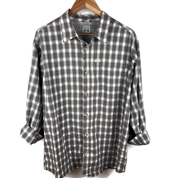 Columbia Other - Columbia Omni Shield Plaid Button Up Shirt